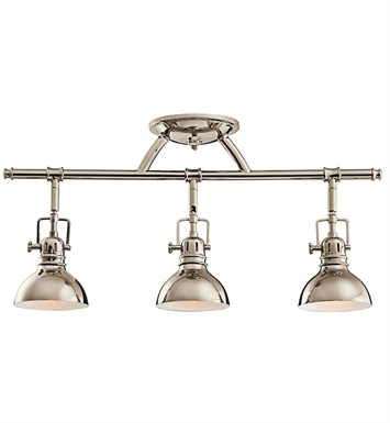 Kichler 7050PN Fixed Rail 3 Light Halogen in Polished Nickel