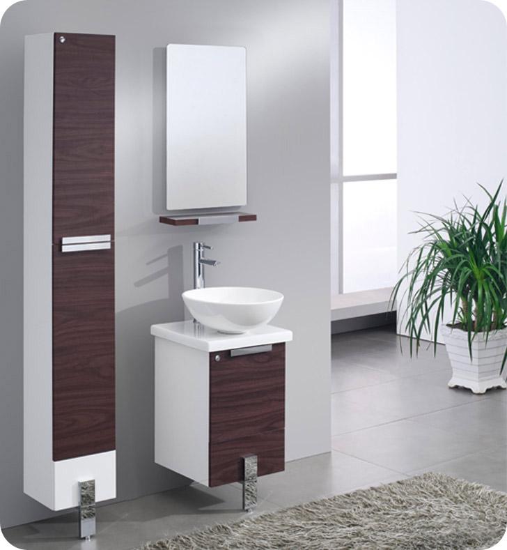"Modern Bathroom Vanities New York fresca fvn8110dk adour 16"" modern bathroom vanity with mirror in"