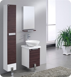 "Fresca FVN8110DK Adour 16"" Modern Bathroom Vanity with Mirror in Dark Walnut"