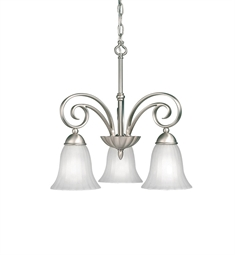 Kichler Willowmore Collection Chandelier 3 Light in Brushed Nickel