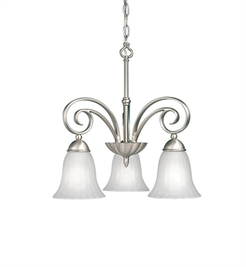 Kichler 3326NI Willowmore Collection Chandelier 3 Light in Brushed Nickel