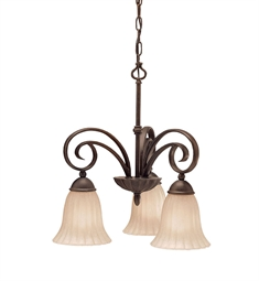 Kichler Willowmore Collection Chandelier 3 Light in Tannery Bronze