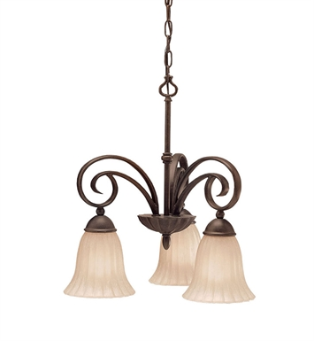 Kichler 3326TZ Willowmore Collection Chandelier 3 Light in Tannery Bronze