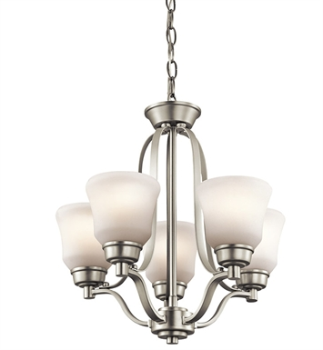 Kichler 1788NI Chandelier 5 Light With Finish: Brushed Nickel