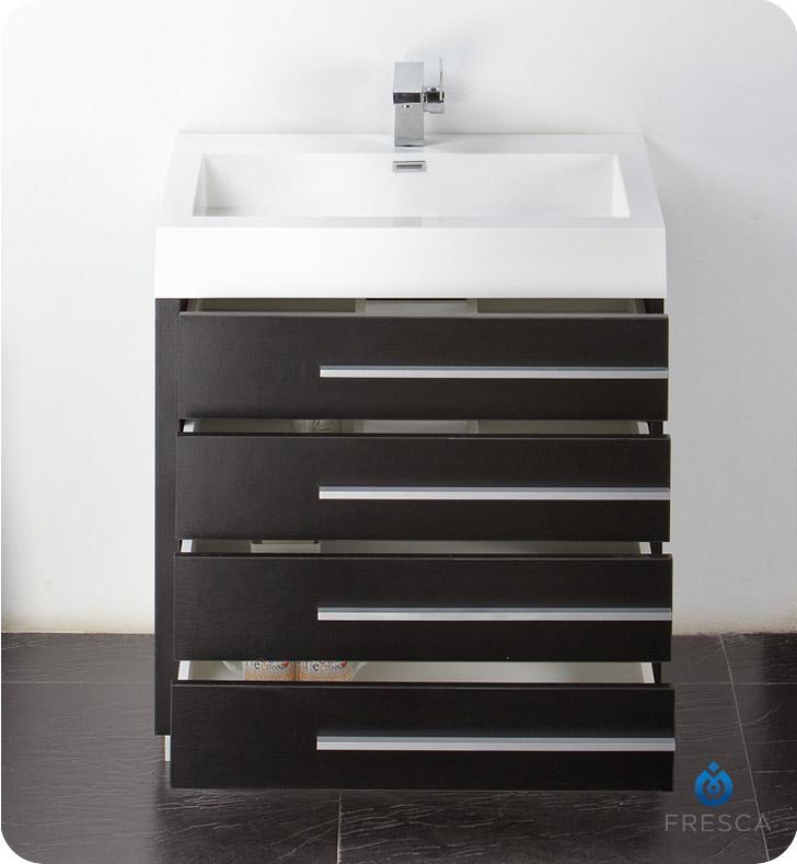 """Modern Bathroom Vanity 30 Inch fresca fvn8030bw livello 30"""" modern bathroom vanity with medicine"""