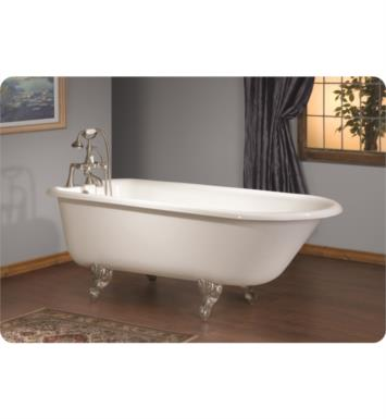 "Cheviot 2093 Traditional 54"" Cast Iron Clawfoot Soaking Bathtub with Flat Area for Faucet Holes"