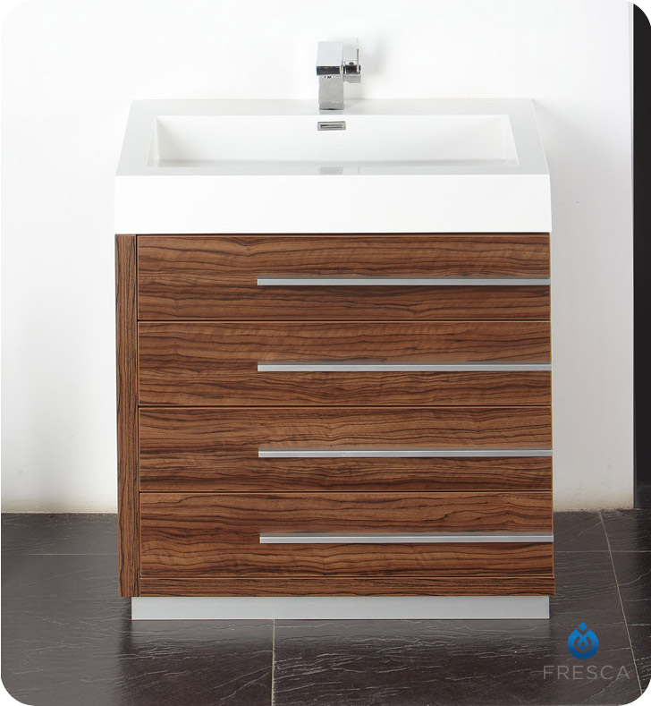 Fresca Fvn8030gw Livello 30 Modern Bathroom Vanity With Medicine Cabinet In Walnut