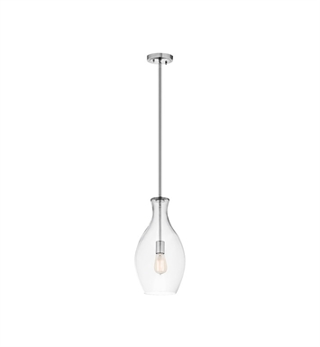 Kichler 42047CH Everly Collection Mini Pendant 1 Light in Chrome