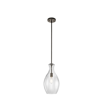 Kichler 42047OZ Everly Collection Pendant 1 Light in Olde Bronze