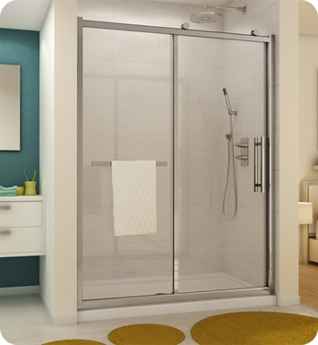 "Fleurco FSR-460-25-40 Forte Sorrento In Line Door and Panel With Dimensions: Width: 57-5/8"" to 58-3/4"" 