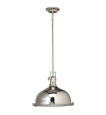 Kichler 2666PN Pendant 1 Light in Polished Nickel