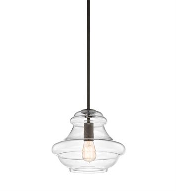 Kichler 42044OZ Everly Collection Pendant 1 Light in Olde Bronze