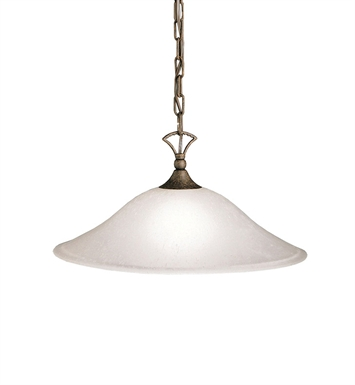 Kichler 2702TZ Hastings Collection Pendant 1 Light in Tannery Bronze