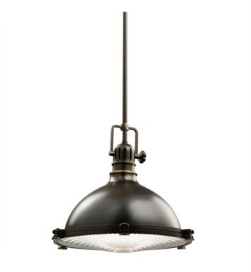 "Kichler 2666OZ Hatteras Bay 1 Light 13 1/4"" Incandescent Pendant with Dome Shaped Metal Shade With Finish: Olde Bronze"