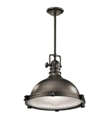 "Kichler 2682PN Hatteras Bay 1 Light 18"" Incandescent Pendant with Dome Shaped Metal Shade With Finish: Polished Nickel"