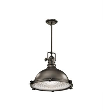 "Kichler 2691OZ Hatteras Bay 1 Light 23 3/4"" Incandescent Pendant with Dome Shaped Metal Shade With Finish: Olde Bronze"