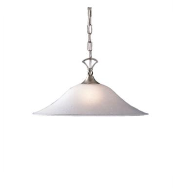 Kichler 2702NI Hastings 1 Light Incandescent Pendant with Dome Shaped Glass Shade With Finish: Brushed Nickel
