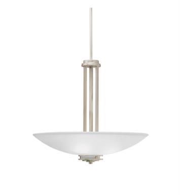 Kichler 3275NI Hendrik 3 Light Incandescent Inverted Pendent with Bowl Shaped Glass Shade With Finish: Brushed Nickel