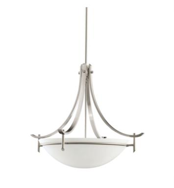 Kichler 3278 Olympia 3 Light Incandescent Inverted Pendant with Bowl Shaped Glass Shade