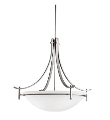 Kichler 3279 Olympia 5 Light Incandescent Inverted Pendant with Bowl Shaped Glass Shade
