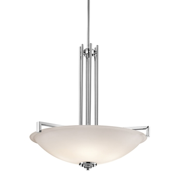 Kichler 3299OZ Eileen 4 Light Incandescent Inverted Pendant with Bowl Shaped Glass Shade With Finish: Olde Bronze