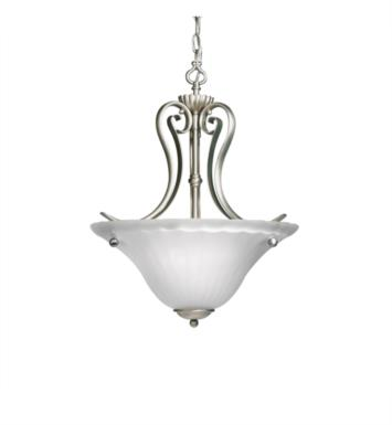 Kichler 3325TZ Willowmore 2 Light Incandescent Inverted Pendant with Bowl Shaped Glass Shade With Finish: Tannery Bronze