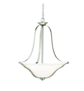 Kichler 3384NI Langford 3 Light Incandescent Inverted Pendant with Bowl Shaped Glass Shade With Finish: Brushed Nickel