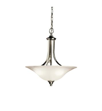 Kichler 3502 Dover 3 Light Incandescent Semi-Flush Inverted Pendant with Bowl Shaped Glass Shade