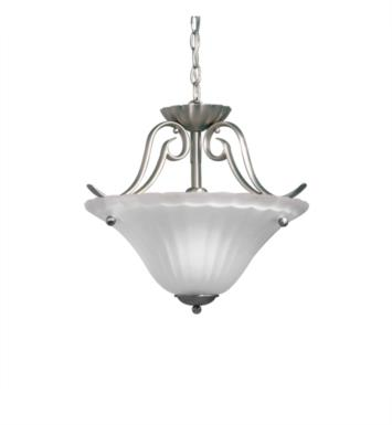 Kichler 3729NI Willowmore 1 Light Incandescent Semi-Flush Inverted Pendant with Bowl Shaped Glass Shade With Finish: Brushed Nickel