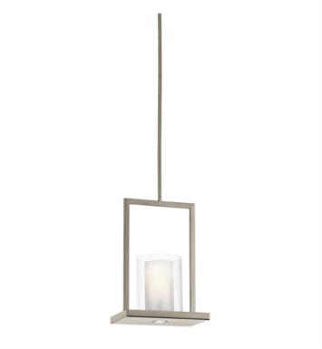 Kichler 42549OZ Triad 1 Light Incandescent Pendant with Cylinder Shaped Glass Shade With Finish: Olde Bronze