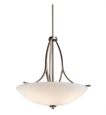Kichler 42561OZ Granby 3 Light Incandescent Inverted Pendant with Bowl Shaped Glass Shade With Finish: Olde Bronze