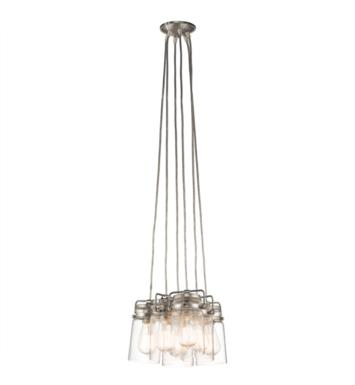 Kichler 42877OZ Brinley 6 Light Incandescent Pendant with Canning Jar Style Shade With Finish: Olde Bronze