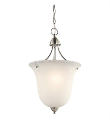 Kichler 42882OZ Nicholson 1 Light Foyer Pendant with Urn Shaped Glass Shade With Finish: Olde Bronze
