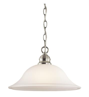 Kichler 42902NI Tanglewood 1 Light Incandescent Pendant with Dome Shaped Glass Shade With Finish: Brushed Nickel