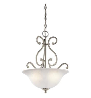 Kichler 43227OZ Camerena 3 Light Incandescent Pendant with Bowl Shaped Glass Shade With Finish: Olde Bronze