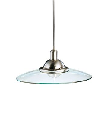 Kichler 2640NI Galaxie Collection Pendant 1 Light in Brushed Nickel