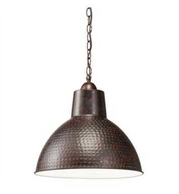 Kichler 78200 Missoula 1 Light Incandescent Pendant with Dome Shaped Metal Shade