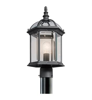 Kichler 49187BK Barrie 1 Light Incandescent Outdoor Post Mount Lantern With Finish: Black