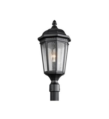 Kichler 9532BKT Courtyard 1 Light Incandescent Outdoor Post Mount Lantern With Finish: Textured Black