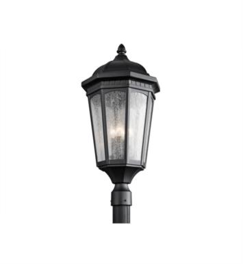 Kichler 9533BKT Courtyard 3 Light Incandescent Outdoor Post Mount Lantern With Finish: Textured Black