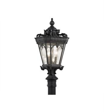 Kichler 9558LD Tournai 3 Light Incandescent Outdoor Post Mount Lantern With Finish: Londonderry