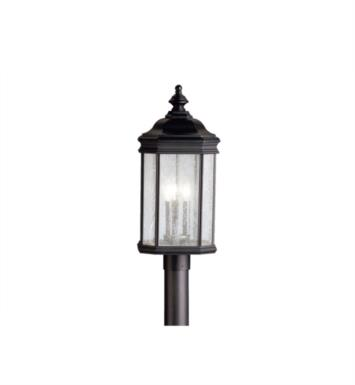Kichler 9918TZ Kirkwood 3 Light Incandescent Outdoor Post Mount Lantern With Finish: Tannery Bronze