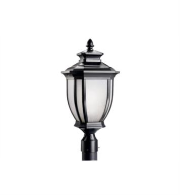 "Kichler 9938BK Salisbury 1 Light 10"" Incandescent Outdoor Post Mount Lantern With Finish: Black"