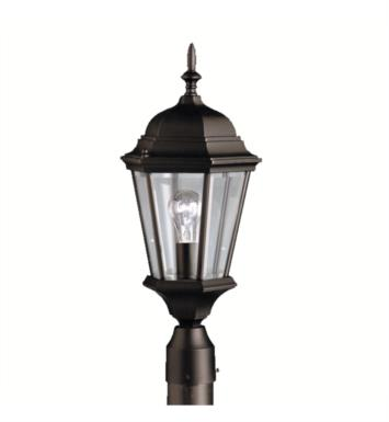Kichler 9956TZ Madison 1 Light Incandescent Outdoor Post Mount Lantern With Finish: Tannery Bronze