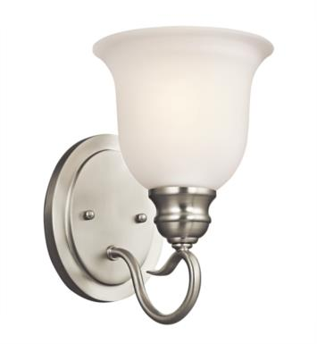 Kichler 45901OZ Tanglewood 1 Light Incandescent Wall Sconce with Bell Shaped Glass Shade With Finish: Olde Bronze