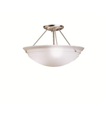 Kichler 3122NI Cove Molding Top Glass 3 Bulb Incandescent Semi-Flush Ceiling Light with Bowl Shaped Glass Shade With Finish: Brushed Nickel