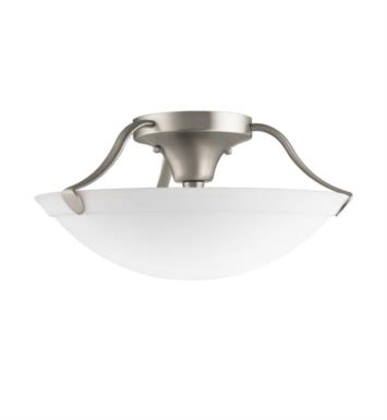 Kichler 3627OZ 3 Bulb Incandescent Semi-Flush Mount Ceiling Light with Bowl Shaped Glass Shade With Finish: Olde Bronze