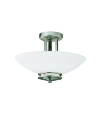 Kichler 3674NI Hendrik 2 Bulb Incandescent Semi-Flush Mount Ceiling Light with Bowl Shaped Glass Shade With Finish: Brushed Nickel