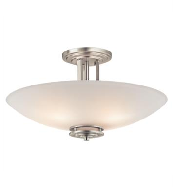 Kichler 3677OZ Hendrik 4 Bulb Incandescent Semi-Flush Mount Ceiling Light with Bowl Shaped Glass Shade With Finish: Olde Bronze