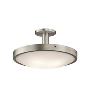 Kichler 42246OZ Lytham 4 Bulb Incandescent Semi-Flush Mount Ceiling Light with Bowl Shaped Glass Shade With Finish: Olde Bronze